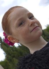 Jeune fille 7 ans andalouse