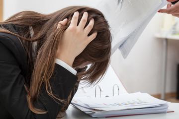 Dejected female employee