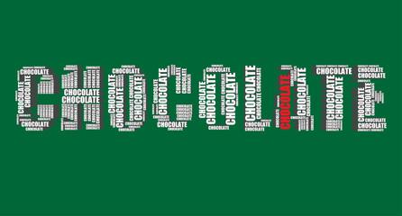 chocolate typography 3d text word art vector chocolate illustrat