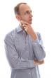 Geschäftsmann isoliert nachdenklich mit Brille - Blick