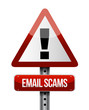 email scams road sign illustration design