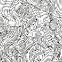 Hair outlined background