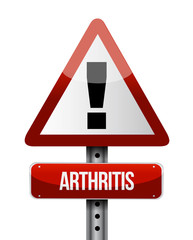 arthritis road sign illustration design