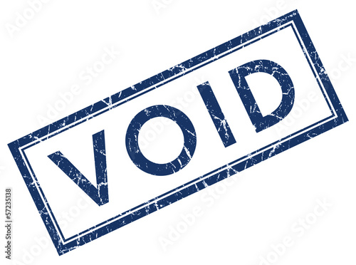 Void square grunge blue stamp
