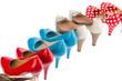 Schuhe mit hohen Absätzen