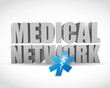 medical network illustration design