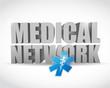 medical network illustration design