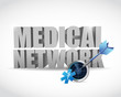 medical network and radar illustration design