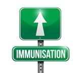 immunization road sign illustration design poster