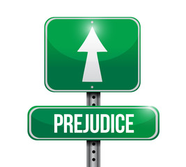 prejudice road sign illustration design