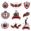 Basketball labels and icons set. Vector