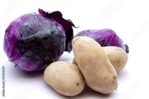 Kartoffeln und Rotkohl