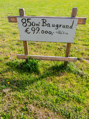 Baugrund zu verkaufen
