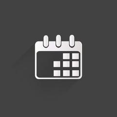 Calendar organizer web icon,flat design