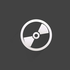 Compact disk web icon,flat design