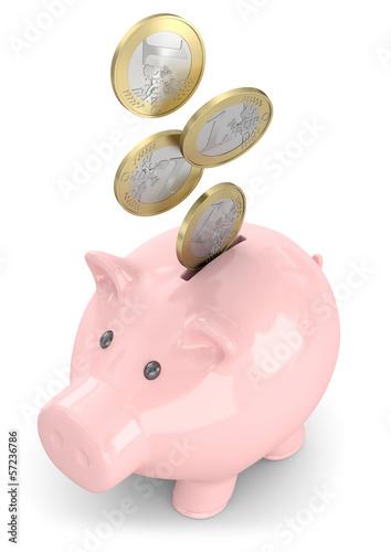 Sparschwein Münzen