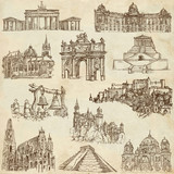 Famous places and architecture around the World - paper set 4