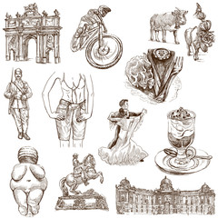 traveling Austria - hand drawings - white part 2