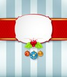 Christmas card background with ribbon