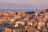 Fototapety the city of Corfu during the sunset on a sunny day