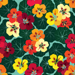 Flowers seamless background. Floral texture with flowers.