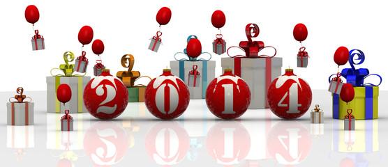 Новогодние шары 2014 года с подарками