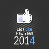 Like New Year 2014 Card