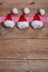 Rustikaler Holz Hintergrund für Weihnachten als Karte