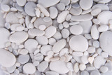 Fototapety white pebbles stones background