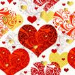 Vintage seamless valentine pattern