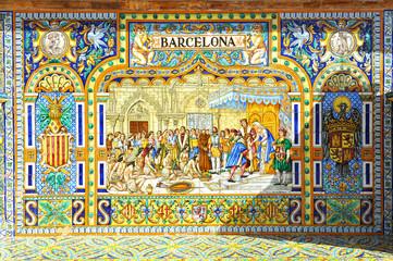 Monumental Plaza de España, Barcelona, Sevilla, España