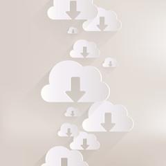 Cloud download application web icon