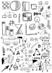 hand drawn design elements business