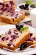 Black currant loaf cake
