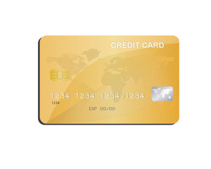 Credit Card in White Plate