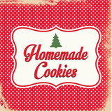Retro Homemade Christmas Cookies Sign