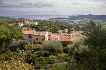 Panoramic view from castle at Bormes les mimosas