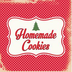 Retro Homemade Christmas Cookies Sign