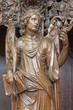 Leuven - Carved angel as symbol of virtuousness