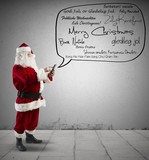 Santa Claus with Merry Christmas message