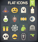 Halloween Universal Flat Icons for Web and Mobile Applications