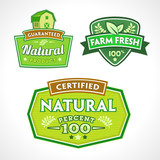 Set of organic-bio-natural  labels poster