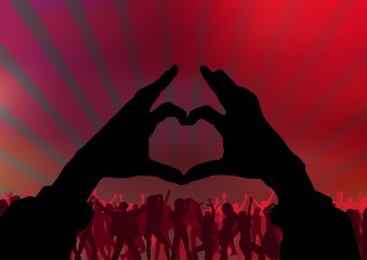 I Love Party - Dance Background
