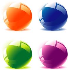 Glossy spheres. Vector.