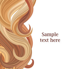 Hair style background with copy space. Vector illustration.