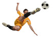 canvas print picture - Soccer Player in Action