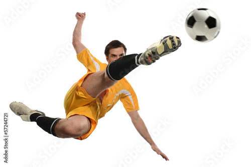 Soccer Player in Action - 57244721