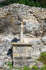 pilgrimage cross in Rocamadour
