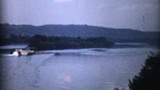 Old Paddlewheel Barge In Ohio-1940 Vintage 8mm film