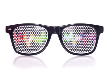 Retro raving party glasses
